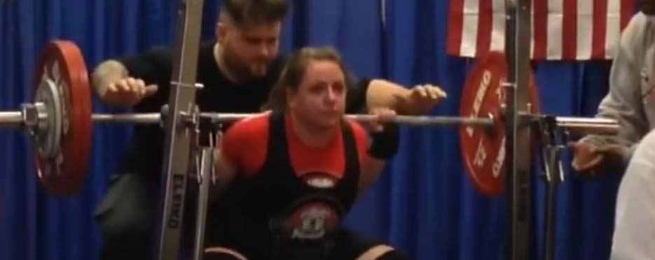 Liz W USPA Squat 3 2016 , USAPL, Powerlifting, Arnold Classic, Member Minutes, Alyssa Frey, Lodrina Cherne