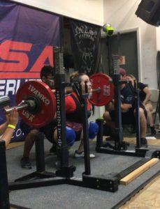 Danielle Bond USAPL squat 7 2017